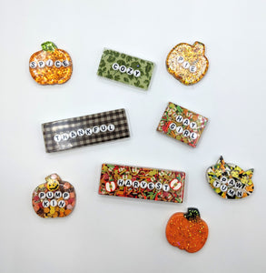 Autumn Resin Hair Clips or Pins