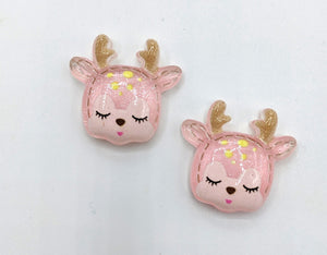 Glittery Deer Earrings
