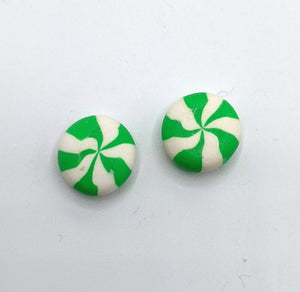 Rainbow Peppermint Earrings