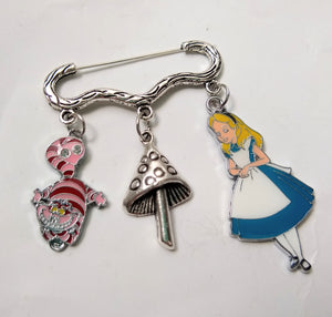Alice in Wonderland Charm Pins