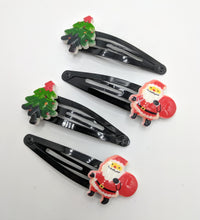 Santa and Christmas Tree Snap Clips