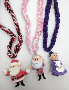 Santa and Mrs Claus Necklaces