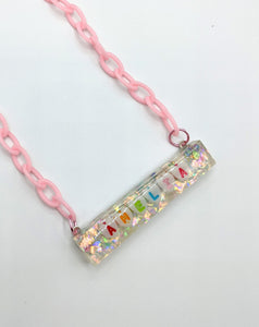 Custom Name Resin Bar Necklace
