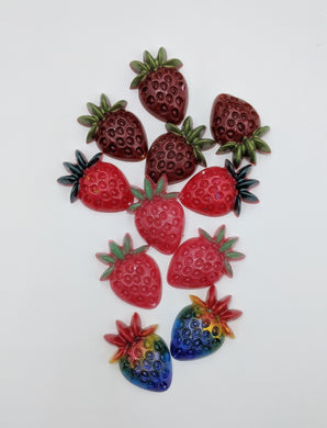 Strawberry Resin Pieces