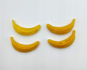 Banana Resin Hair Clips