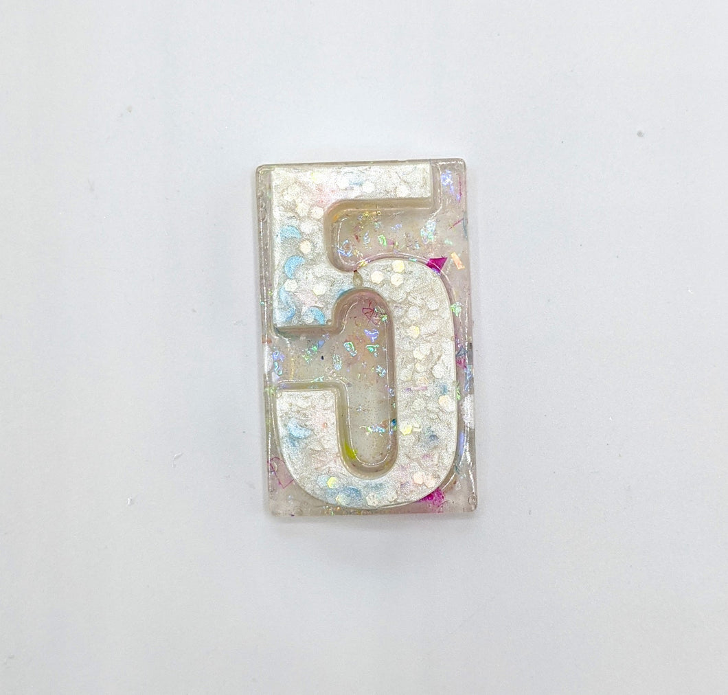 Custom Resin Number Pin