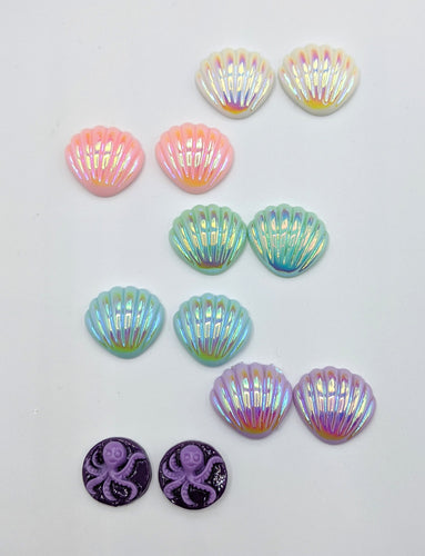 Mermaid Collection Clip On Earrings