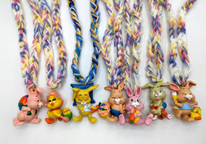 Vintage Easter Bunny and Chick Necklaces