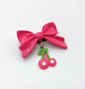 Cherry Bomb Bow Brooches