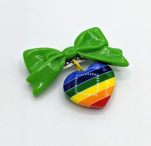Pride Rainbow Bow Brooches