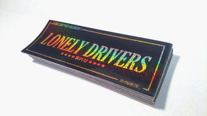 LONELY DRIVERS BLACK/GOLD SPARKLE STICKER