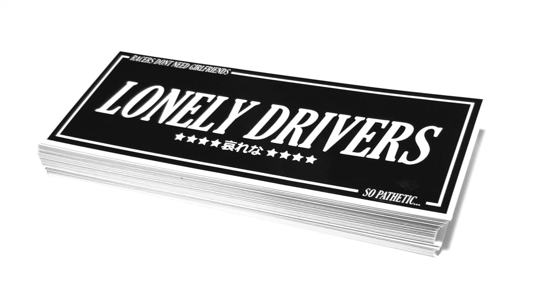 LONELY DRIVERS ORIGINAL BLACK STICKER
