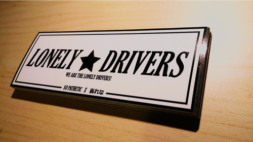 LONELY DRIVERS ORIGINAL WHITE STICKER