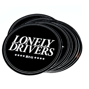 Lonely Drivers Circle Sticker Black