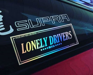 LONELY DRIVERS OIL SLICK STICKER