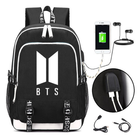 BTS Charger and Aux port backpack