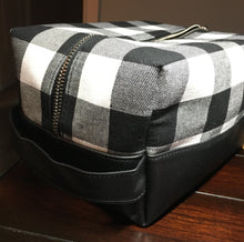 Groom or Groomsman Toiletry Kit - Black & White Plaid - Wedding Day Essentials