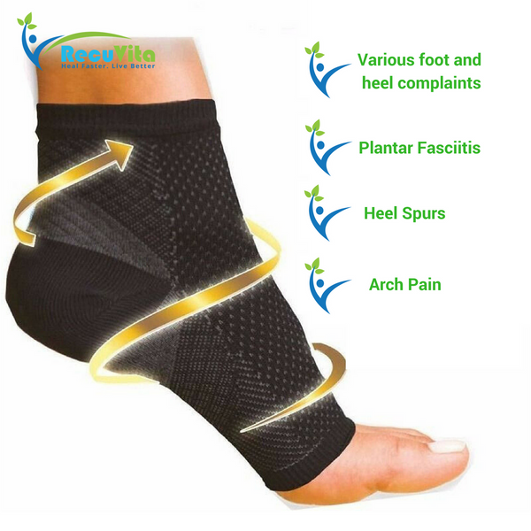 Special Compression Sock Sleeve for plantar fasciitis by RecuVita