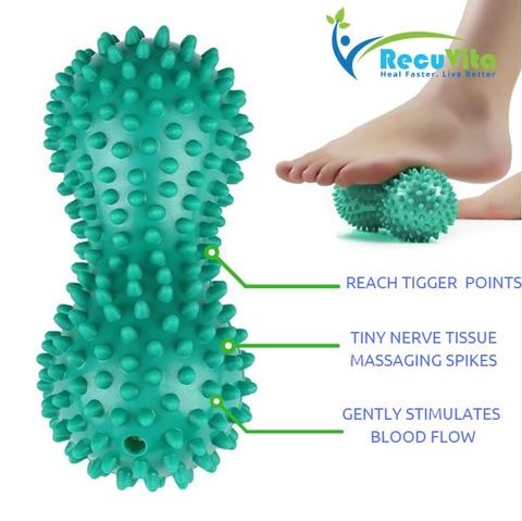 Peanut Massage Ball and Roller to treat Plantar Fasciitis by Recuvita