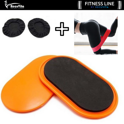 Gliding Workout Discs + FREE Latex Workout Band