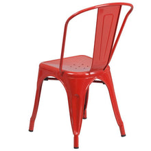 Load image into Gallery viewer, Red Metal Indoor-Outdoor Stackable Chair