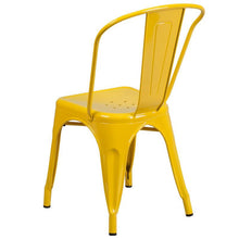 Load image into Gallery viewer, Yellow Metal Indoor-Outdoor Stackable Chair