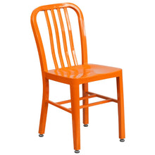 Load image into Gallery viewer, Orange Metal Indoor-Outdoor Chair