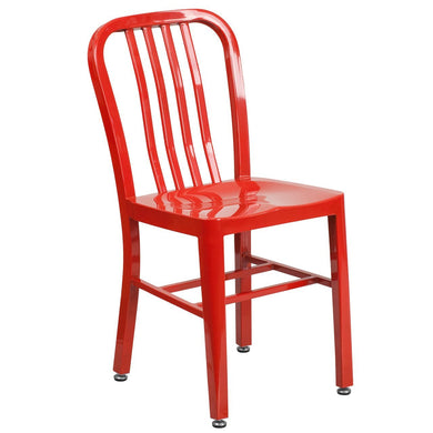 Red Metal Indoor-Outdoor Chair