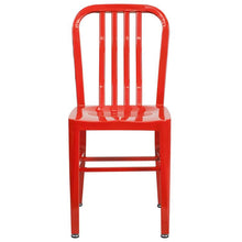 Load image into Gallery viewer, Red Metal Indoor-Outdoor Chair