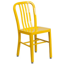 Load image into Gallery viewer, Yellow Metal Indoor-Outdoor Chair