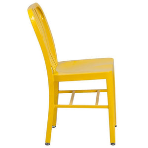 Yellow Metal Indoor-Outdoor Chair
