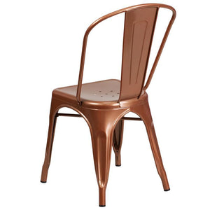 Copper Metal Indoor-Outdoor Stackable Chair