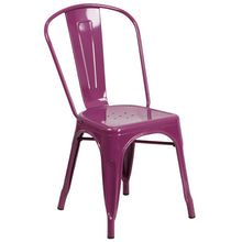 Load image into Gallery viewer, Purple Metal Indoor-Outdoor Stackable Chair