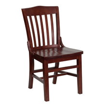 Load image into Gallery viewer, HERCULES Series School House Back Mahogany Wood Restaurant Chair