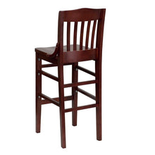 Load image into Gallery viewer, HERCULES Series School House Back Mahogany Wood Restaurant Barstool