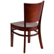 Load image into Gallery viewer, Lacey Series Solid Back Mahogany Wood Restaurant Chair