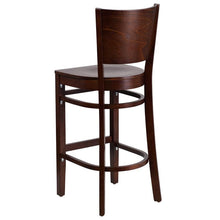 Load image into Gallery viewer, LACEY Series Solid Back Walnut Wood Restaurant Barstool