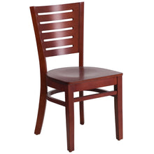 Load image into Gallery viewer, Darby Series Slat Back Mahogany Wood Restaurant Chair