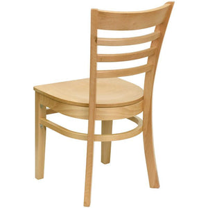 HERCULES Series Ladder Back Natural Wood Restaurant Chair