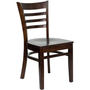 HERCULES Series Ladder Back Walnut Wood Restaurant Chair