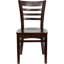 Load image into Gallery viewer, HERCULES Series Ladder Back Walnut Wood Restaurant Chair