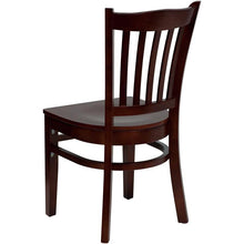 Load image into Gallery viewer, HERCULES Series Vertical Slat Back Mahogany Wood Restaurant Chair