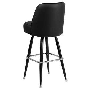 Metal Barstool with Swivel Bucket Seat
