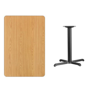 30'' x 45'' Rectangular Natural Laminate Table Top with 22'' x 30'' Table Height Base