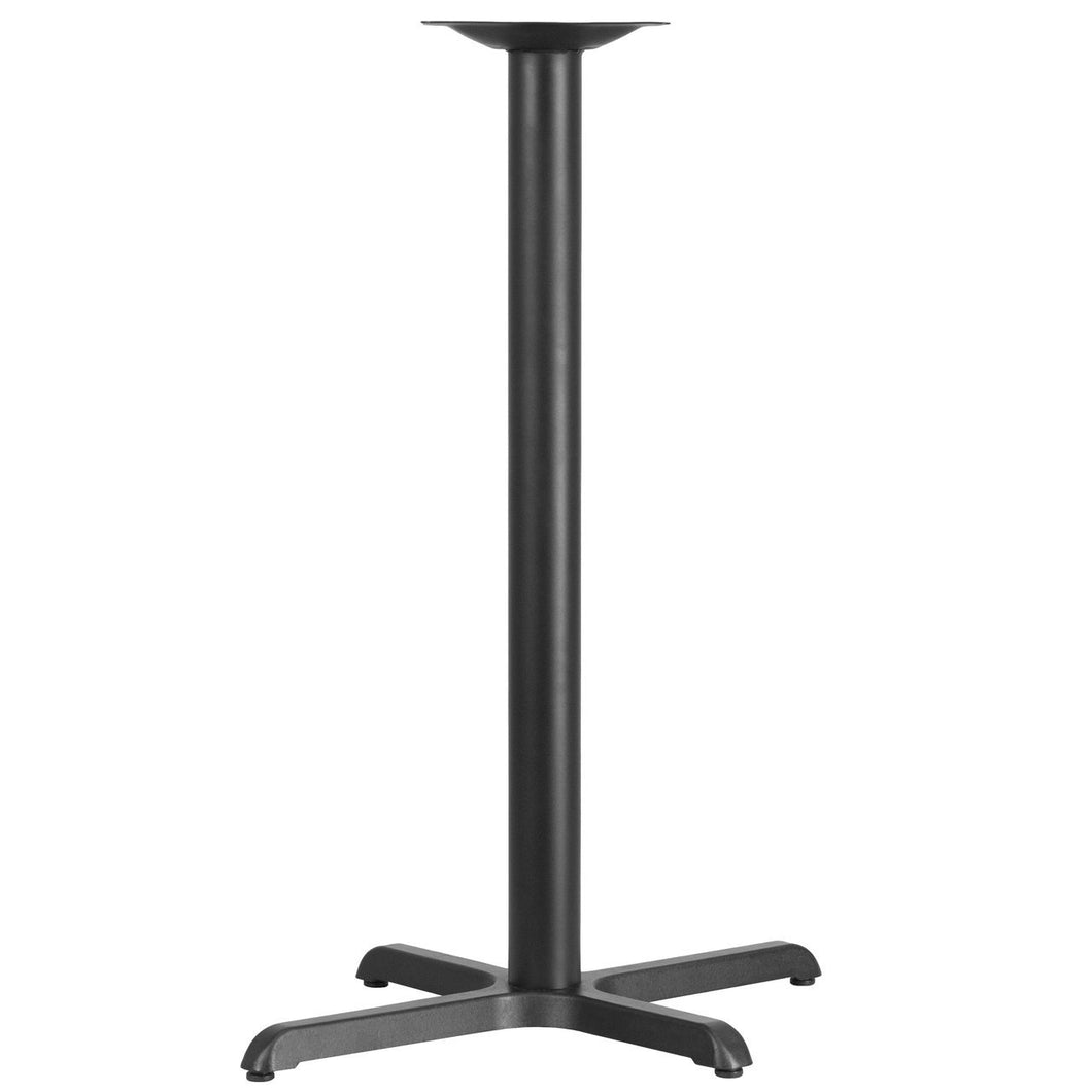 22'' x 30'' Restaurant Table X-Base with 3'' Dia. Bar Height Column