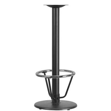 18'' Round Restaurant Table Base with 3'' Dia. Bar Height Column and Foot Ring
