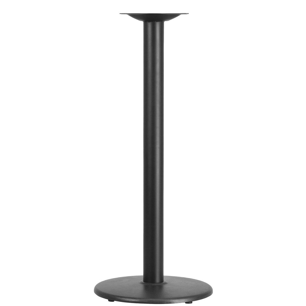18'' Round Restaurant Table Base with 3'' Dia. Bar Height Column
