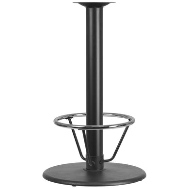 24'' Round Restaurant Table Base with 4'' Dia. Bar Height Column and Foot Ring