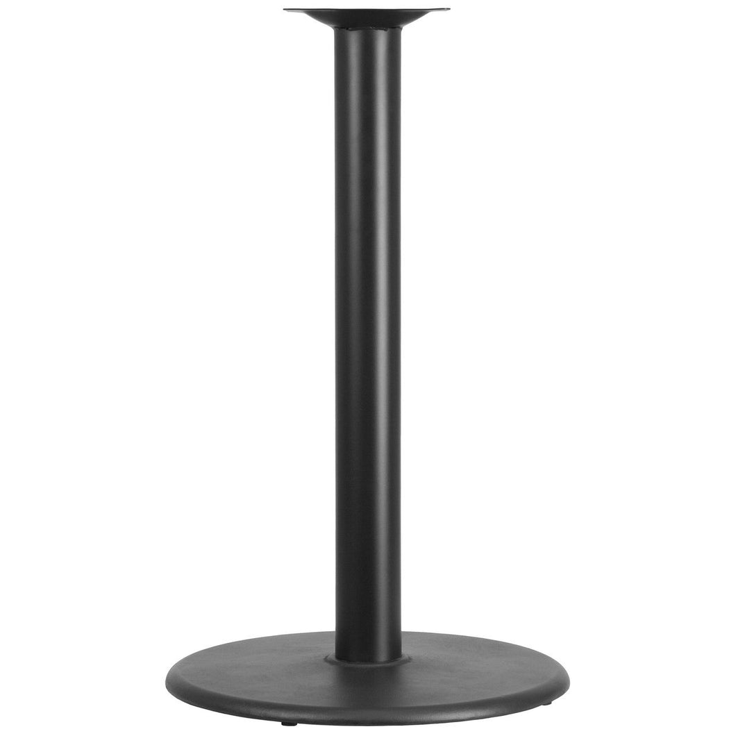 24'' Round Restaurant Table Base with 4'' Dia. Bar Height Column