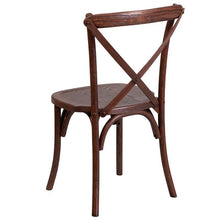 Load image into Gallery viewer, HERCULES Series Stackable Mahogany Wood Cross Back Chair